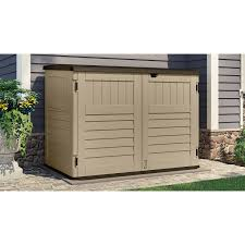 suncast toter trash can shed sand 70 cu ft 188 75 free instore