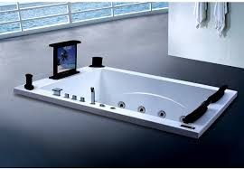 2 Person Spa Bathtub Bathtub With Tv Foshan Luxe Sanitary Wares Co Ltd