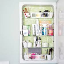Bathroom Cabinet Organizer by Minimalist Bathroom With Three Tiered Glass Storage Shelves And A