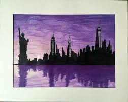 new york new york frank sinatra skyline silhouette sd drawing you