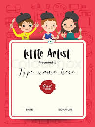 little artist kids diploma child painting course certificate