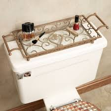 Gold And Silver Bathroom Accessories Aldabella Satin Gold Vanity Tray With Handles