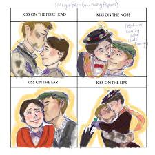Mary Poppins Meme - cute kiss meme done by mjoboe by mjoboe on deviantart