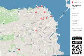 san francisco map for tourist san francisco printable tourist map sygic travel