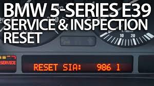 how to reset service reminder in bmw e39 5 series oil inspection