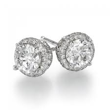 diamond stud earings diamond stud earrings fancy 1 2 carat 0 50ct cut in 14k