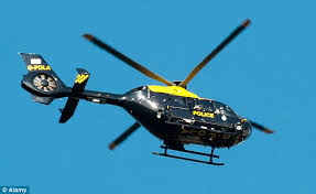 jailed gangsters who shot at police officers and force helicopter