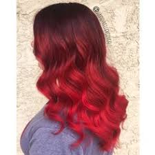 ombre red ombre bright vibrant red color melt dark black