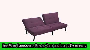 Folding Couch Chair by Homcom 71 Dual Folding Couch Sofa Bed Purple Youtube