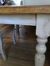 Distressed White Table Distressing The New England Farm Table Co