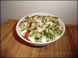 cuisiner poivrons verts salade de lentilles vertes boulgour poivron vert tomates et