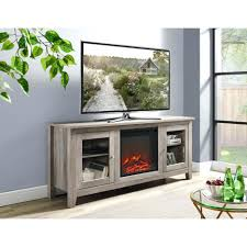 Corner Console Cabinet Tv Stand Superb 58 In Wood Media Tv Stand Console With Fireplace
