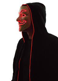 V For Vendetta Mask Light Up V For Vendetta Guy Fawkes Mask Led