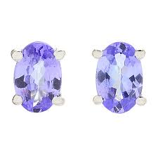tanzanite stud earrings gemporia tanzanite stud earrings
