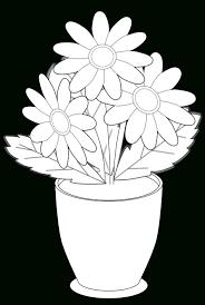 Black And White Vases Black And White Flower Vase Line Art Flowers Vase Of Wild Flowers