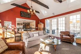 Living Room And Family Room Combo by Weston Ct Mid 19th Century Barn Renovation Family Room Into