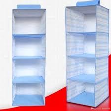 5 pocket hanging organizer folding tier clothes shoes shelf rack