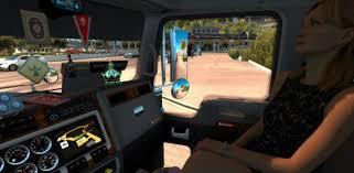 kenwood t800 kenworth w900 cabin accessories mod american truck simulator mod
