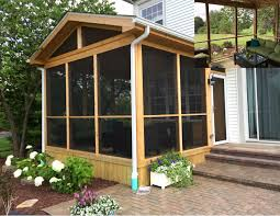 archadeck u0027s finest in screened porches gable roof and skylight