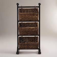Hanging Baskets For Bathroom Storage Bathroom Traditional Hanging Wicker Bathroom Storage Basket