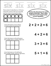 number bonds to 6 free math worksheets