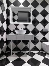 Black And White Checkered Tile Bathroom To Da Loos Checkered Bathroom Walls