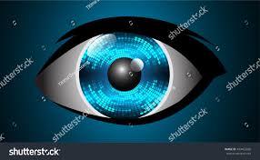 Light Cyber Future Technology Blue Eye Light Cyber Stock Vector 499463266