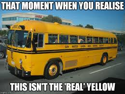 Yellow Meme - why are school buses yellow science abc