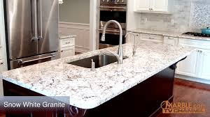 Granite Colors For White Kitchen Cabinets Snow White Granite Kitchen Countertops Youtube
