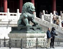 foo dog sculpture foo dog statue in the forbidden city photo bill minter photos at