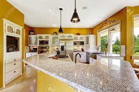 cuisine de couleur intérieur de la maison de ferme luxe salle de cuisine de couleur