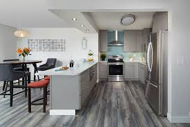 kitchen cabinets with gray floors modern kitchen remodel for stylish minnesota condo cliqstudios