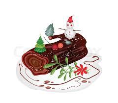 Christmas Cake Decorations Traditional Santa by A Traditional Christmas Cake Yule Log Cake Or Buche De Noel With