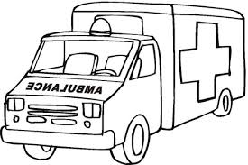 ambulance emergency car coloring free printable coloring pages