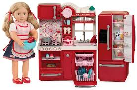 Red Kitchen Set - gourmet kitchen set american doll gift ideas popsugar
