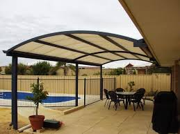 Patio Cover Design Behind The Backdoor  Unique Hardscape Design - Backyard patio cover designs