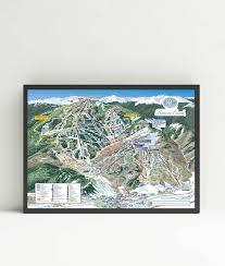 Buffalo Creek Trail Map Beaver Creek Ski Resort Trail Map Framed Poster 36 U2033x24 U2033 Mtns Co