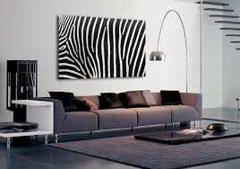 Abstract Zebra Print Wall Art Decoration For Living Room Part Of - Animal print decorations for living room