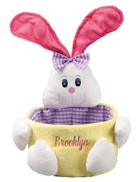 plush easter baskets personalized plush easter basket 11 99 shipped
