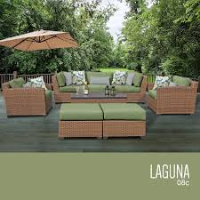 All Weather Wicker Patio Furniture Sets - tk classics laguna 8 piece outdoor wicker patio furniture set 08c