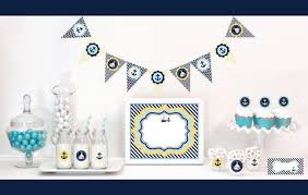 nautical baby shower decorations starter kit