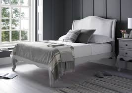 Grey Bed Frame Emily Grey Bed Frame Lfe Oak Beds Wooden Beds Beds