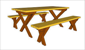 Build A Round Picnic Table by Exteriors Blue Picnic Table Round Wooden Picnic Bench Picnic