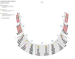 Amphitheater Floor Plan by Kimmel Center Seating Charts View Seat Selection