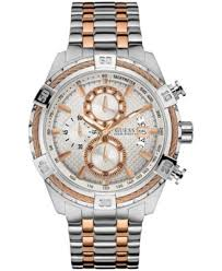bracelet watches guess images Guess men 39 s chronograph two tone stainless steel bracelet watch tif