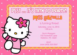 hello kitty birthday invitations u2013 gangcraft net