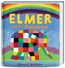 Patchwork Elephant Book - elmer the patchwork elephant baby safe rattle soft co