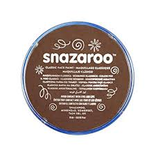 brown paint snazaroo face and body paint 18 ml light brown individual colour