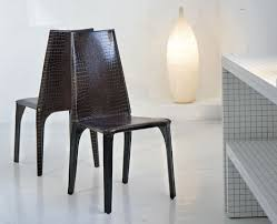 crocodile leather chair from ozzio modern leather chairs