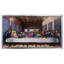 the last supper art glass wall décor